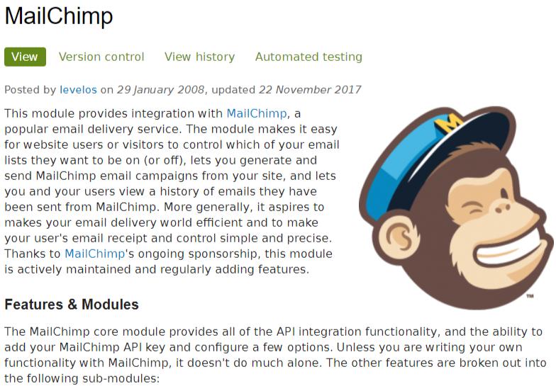 MailChimpモジュール