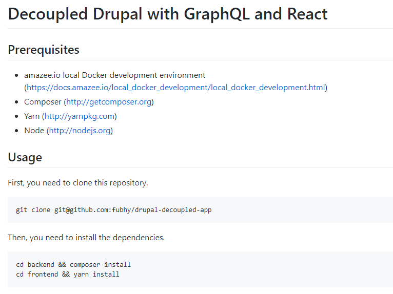 Decoupled Drupal with GraphQL and React